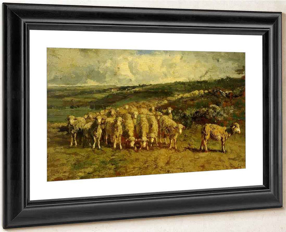 A Flock Of Sheep By Constant Troyon