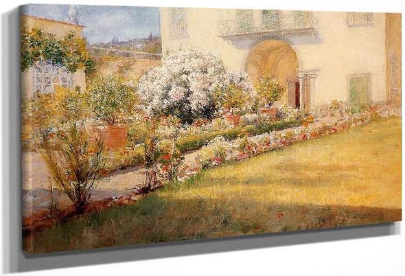 A Florentine Villa By William Merritt Chase