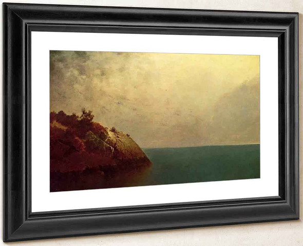 A Foggy Sky By John Frederick Kensett By John Frederick Kensett