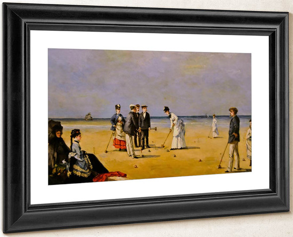 A Game Of Croquet By Louise Abbema By Louise Abbema