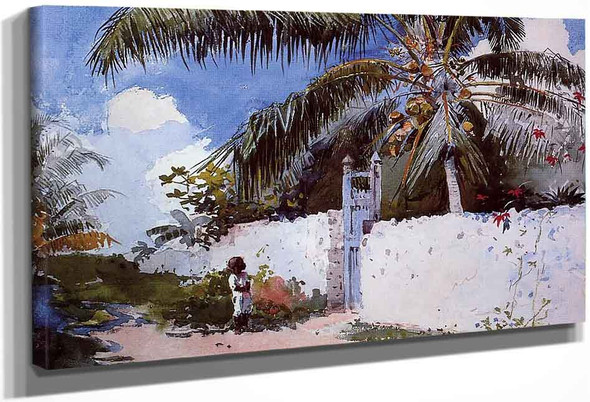 A Garden In Nassau By Winslow Homer