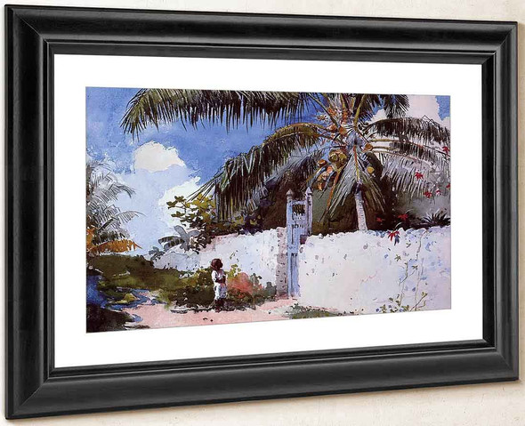A Garden In Nassau By Winslow Homer