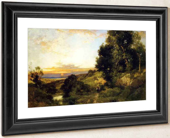 A Late Afternoon In Summer By Thomas Moran