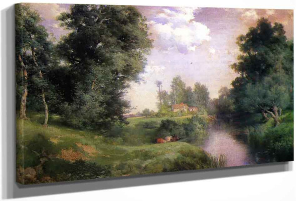 A Long Island River By Thomas Moran