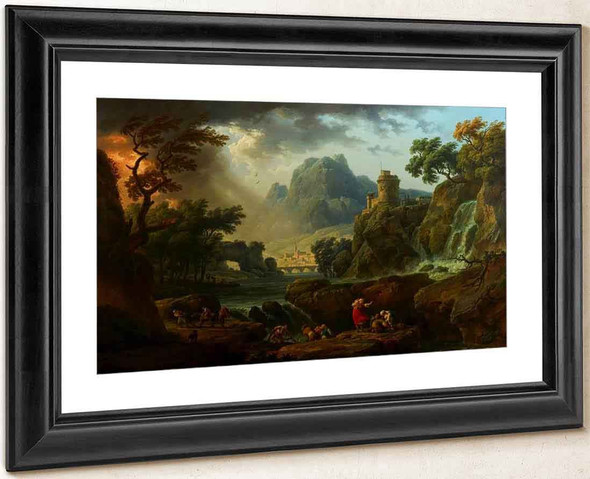 A Mountain Landscape With An Approaching Storm By Claude Joseph Vernet