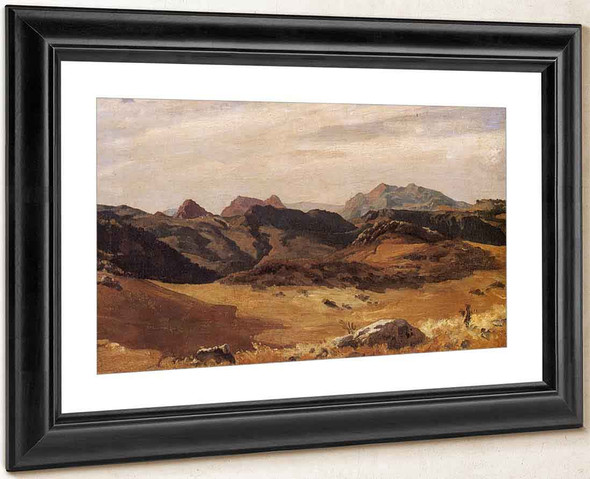 A Mountainous Landscape, Spain By Sir Frederic Lord Leighton