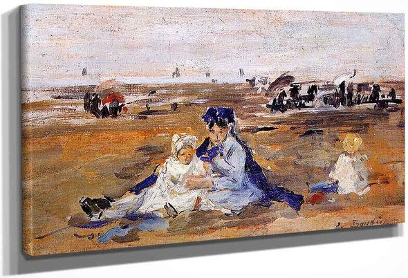 A Nanny On The Beach By Eugene Louis Boudin