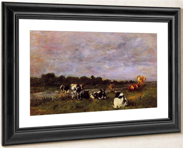 A Pasture On The Banks Of The Touques By Eugene Louis Boudin