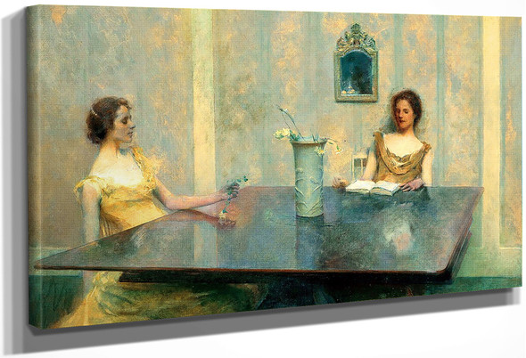 A Reading By Thomas Wilmer Dewing By Thomas Wilmer Dewing