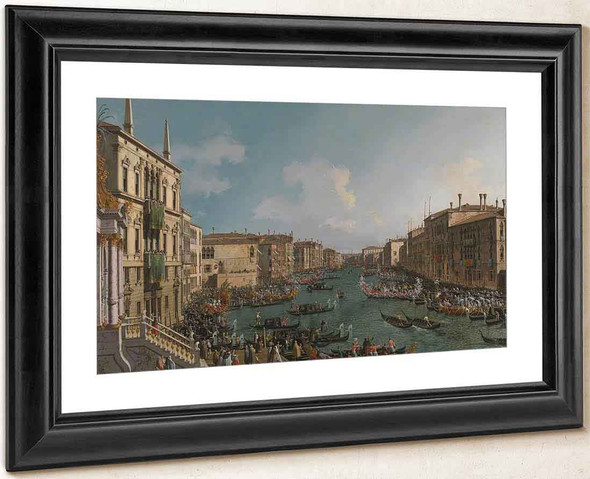 A Regatta On The Grand Canal By Canaletto By Canaletto
