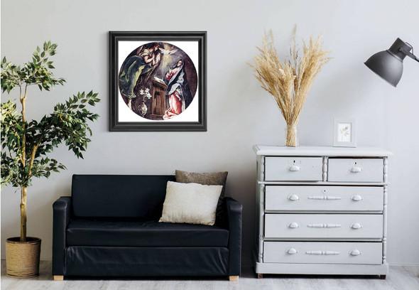 The Annunciation2 By El Greco Art Reproduction