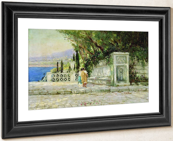 A Roman Landscape By Hendryk Siemiradzki