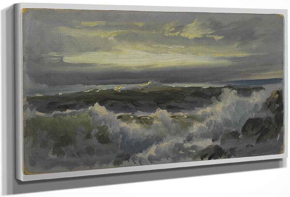 A Rough Surf By William Trost Richards By William Trost Richards