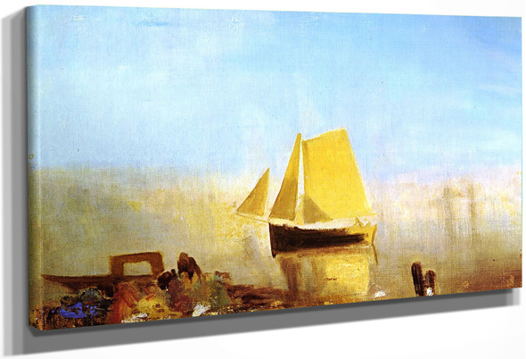 A Sail Boat At Rouen By Joseph Mallord William Turner