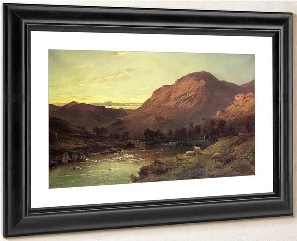 A Salmon River In Scotland By Alfred De Breanski, Sr.