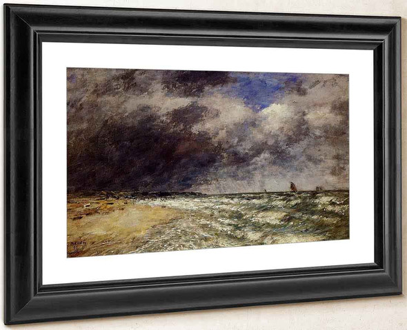A Squall From Northwest By Eugene Louis Boudin