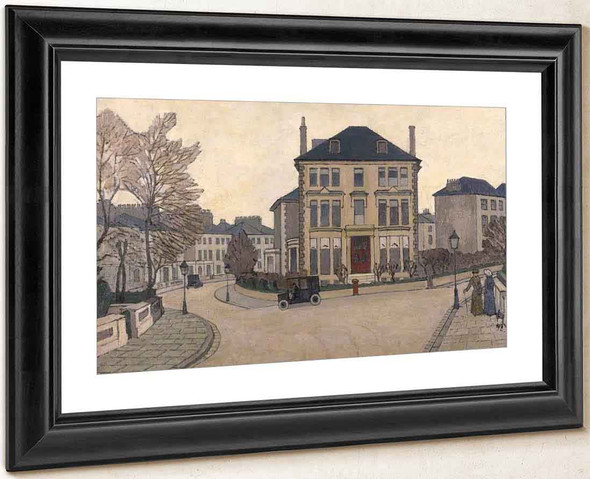 A Street Scene In Belsize Park, A House At Hampstead, London By Robert Bevan By Robert Bevan