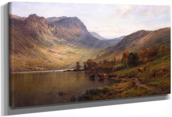 A Sunlit Loch By Alfred De Breanski, Sr.