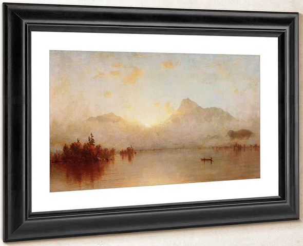 A Sunrise On Lake George By Sanford Robinson Gifford