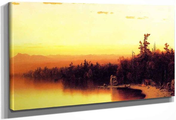 A Twilight In The Adirondacks By Sanford Robinson Gifford