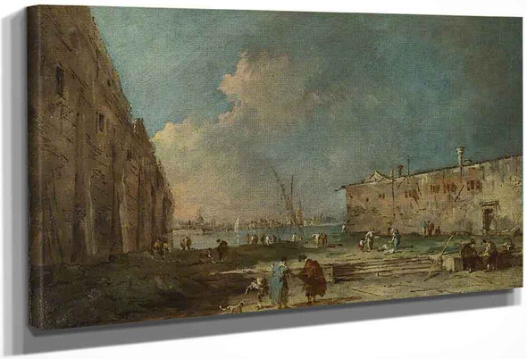 A View Near Venice By Francesco Guardi