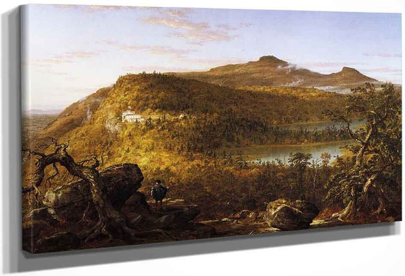A View Of The Two Lakes And Mountain House, Catskill Mountains, Morning By Thomas Cole By Thomas Cole