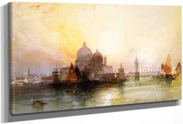 A View Of Venice By Thomas Moran