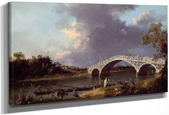 A View Of Walton Bridge By Canaletto By Canaletto