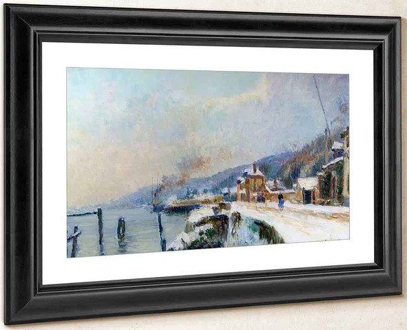 A Wharf On The Seine At Dieppedalle By Albert Lebourg By Albert Lebourg