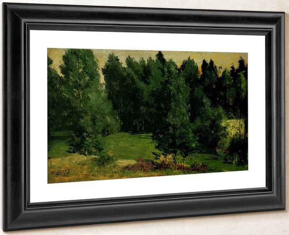 A Wooded Landscape By Sir Edward John Poynter
