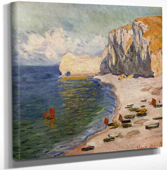 The Beach And The Falaise Damont By Claude Oscar Monet Art Reproduction