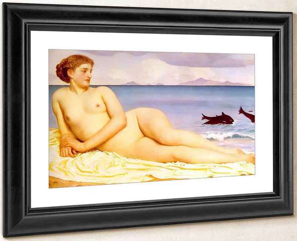 Actaea With Dolphins By Sir Frederic Lord Leighton