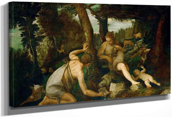Adam And Eve After The Expulsion From Paradise By Paolo Veronese