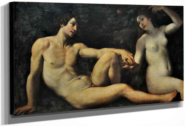 Adam And Eve In Paradise By Francesco Albani By Francesco Albani