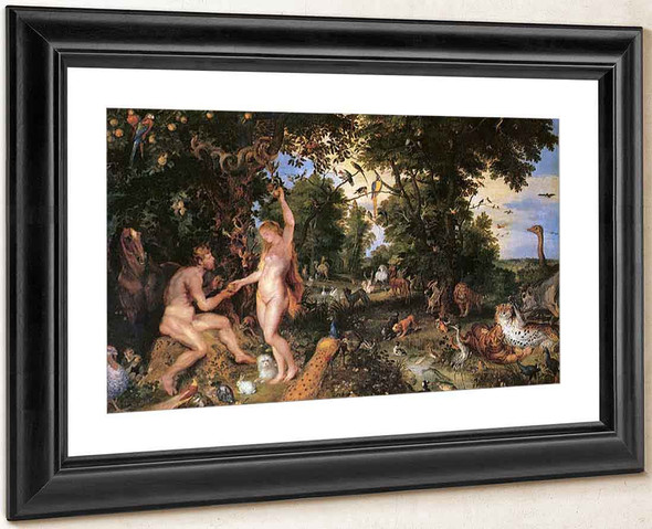 Adam And Eve In Worthy Paradise By Peter Paul Rubens