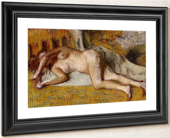 After The Bath1 By Edgar Degas