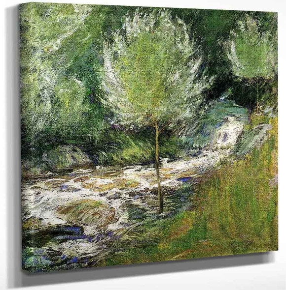 The Brook Greenwich Connecticut By John Twachtman Art Reproduction