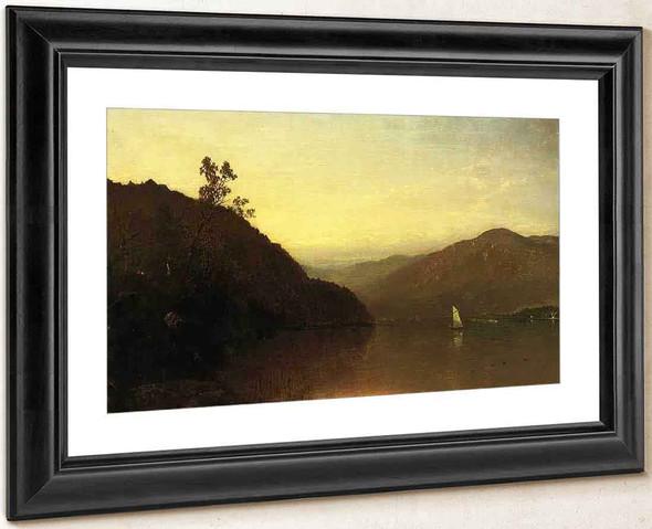 Along The Hudson1 By John Frederick Kensett By John Frederick Kensett