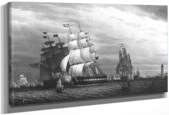 American Ships In The Mersey By Robert Salmon