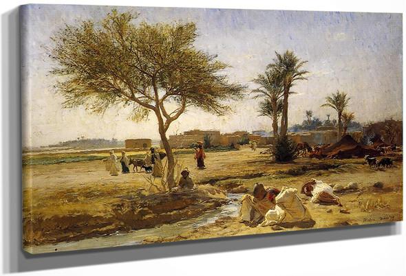 An Arab Village By Frederick Arthur Bridgman