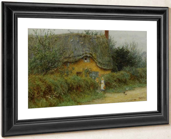 An Iltshire Cottage By Helen Allingham By Helen Allingham