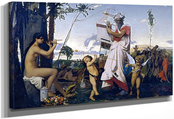 Anacreon, Bacchus, And Amor By Jean Leon Gerome