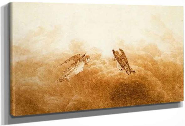 Angels In Adoration By Caspar David Friedrich