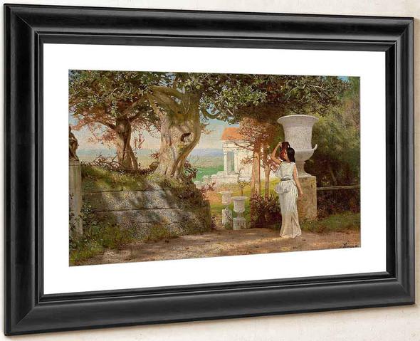 Antique Landscape With Olive Trees By Hendryk Siemiradzki