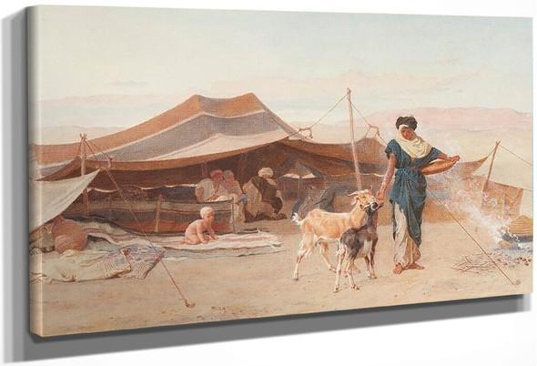 Arab Encampment By Frederick Goodall