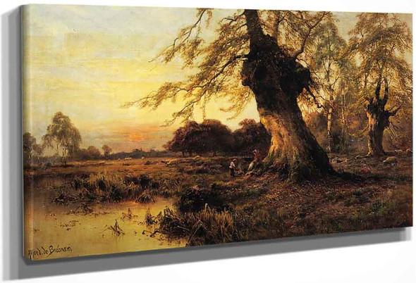 Around The Campfire By Alfred De Breanski, Sr.