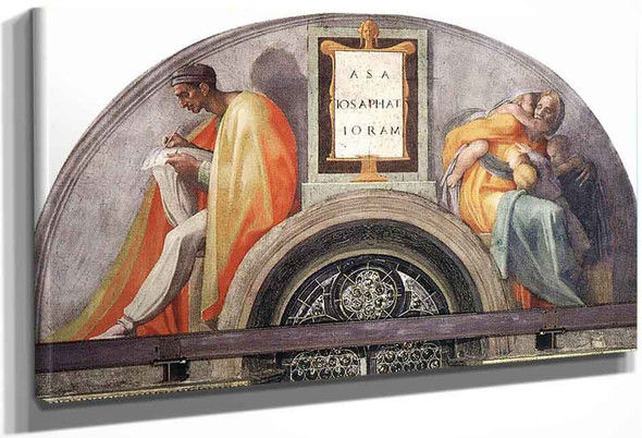 Asa Jehoshaphat Joram By Michelangelo Buonarroti By Michelangelo Buonarroti