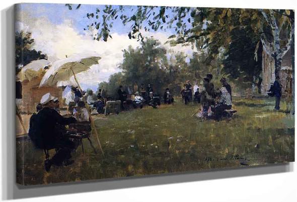 At The Academy Dacha By Ilia Efimovich Repin