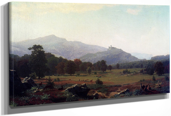 Autumn In The Conway Meadows Looking Towards Mount Washington, New Hampshire By Albert Bierstadt