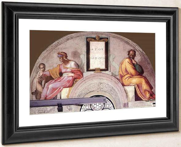Azor Zadok By Michelangelo Buonarroti By Michelangelo Buonarroti